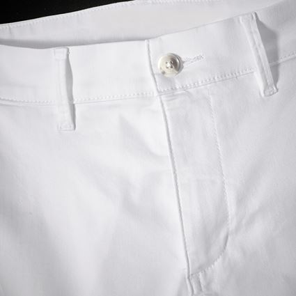 Work Trousers: e.s. 5-pocket work trousers Chino + white 2