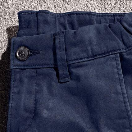 Pantalons: e.s. Chino, enfants + bleu foncé 2