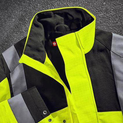Vestes de travail: e.s. Veste de travail multinorm high-vis + jaune fluo/noir 2