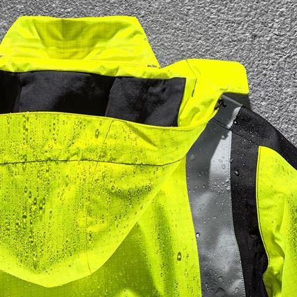 Vestes de travail: e.s. Parka de protection multinorm high-vis + jaune fluo/noir 2