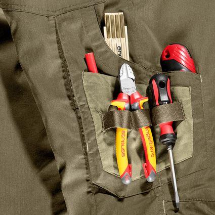 Work Trousers: Trousers e.s.concrete light + mudgreen/stipagreen 2
