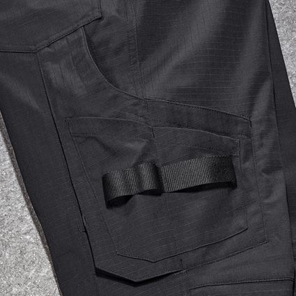 Work Trousers: Trousers e.s.concrete solid, ladies' + black 2