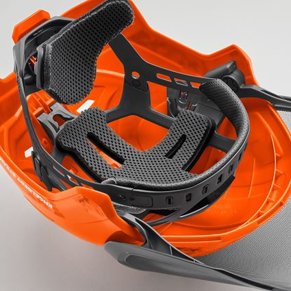 Hard Hats: e.s. Forestry helmet Protos® + high-vis orange woodprint 2