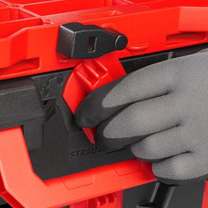 Werkzeugkoffer: STRAUSSbox Hybrid Adapter Platte + rot/schwarz 2