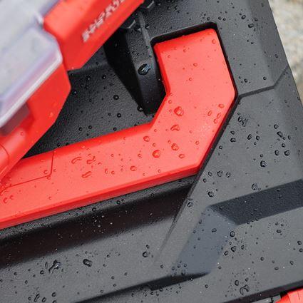 Werkzeugkoffer: STRAUSSbox 145 midi + schwarz/rot 2