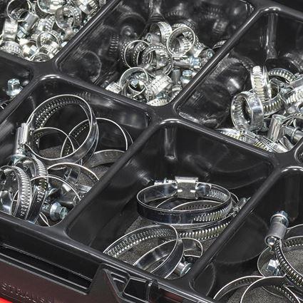 Kleinteile-Sortimente: Schlauchschellen-Sortiment in STRAUSSbox 118 midi 2