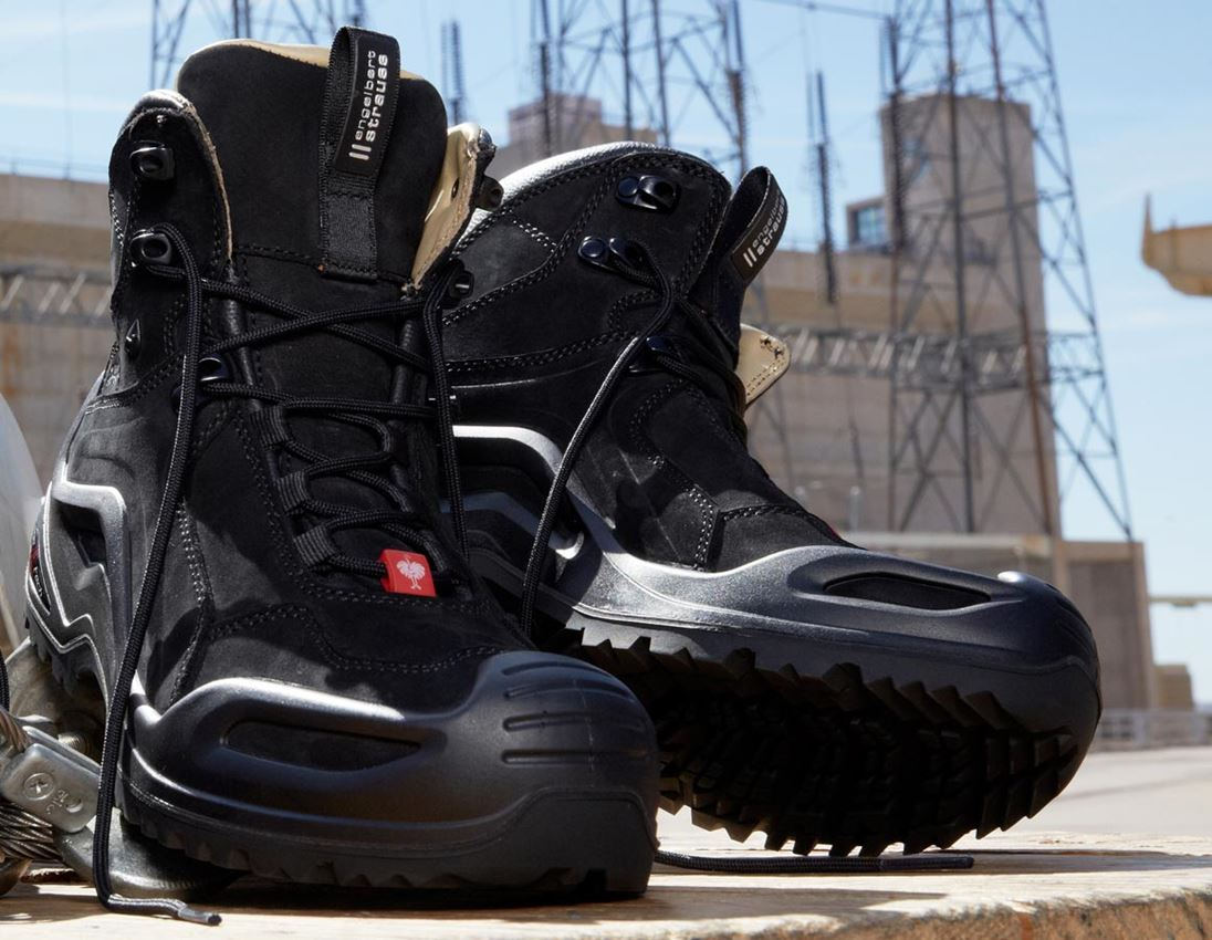 O2: e.s. O2 Work shoes Themisto mid + black