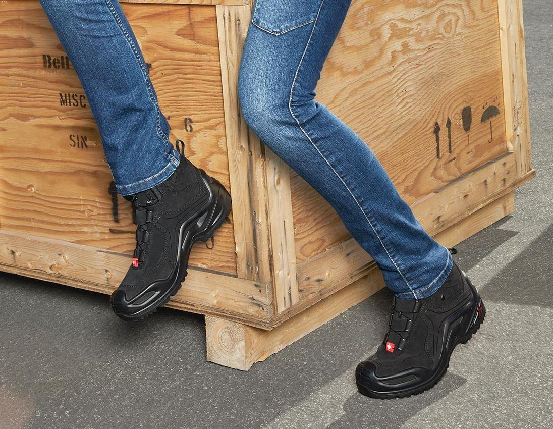 O2: e.s. O2 Work shoes Apate mid + black