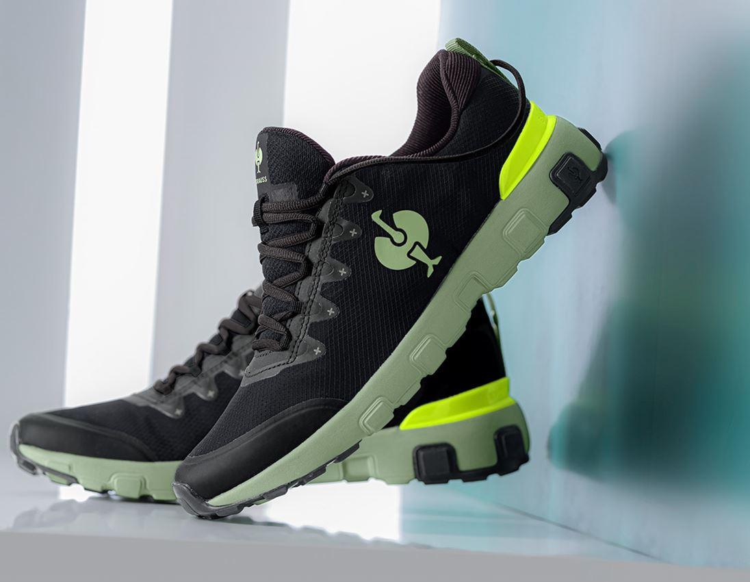 Other Work Shoes: Allround shoe e.s. Bani + black/palegreen