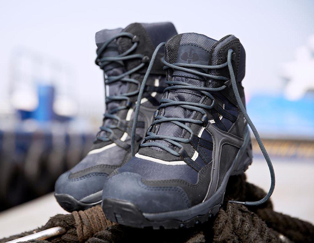 S1: e.s. S1 Safety boots Pallas mid + black/sapphire