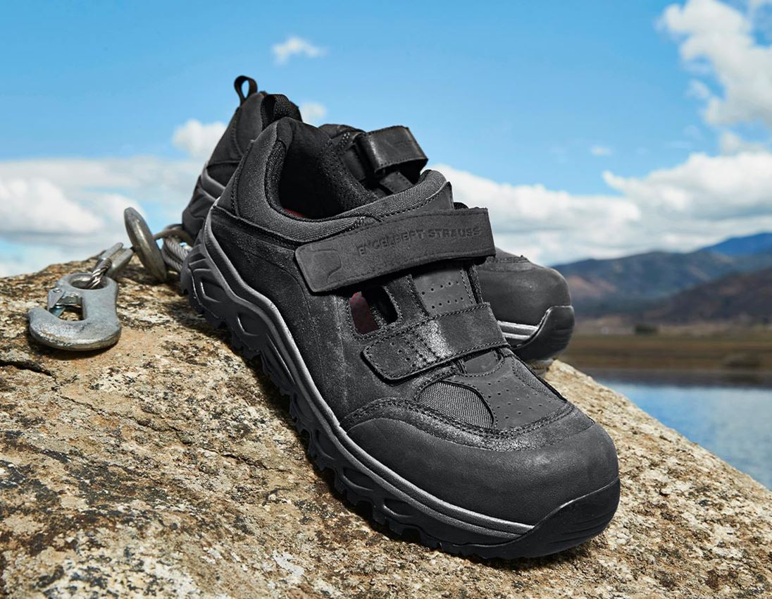 S1: e.s. S1 Safety sandals Siom-x12 + black