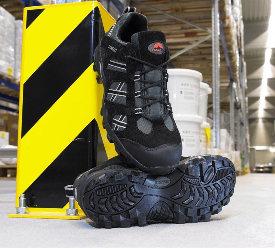 S1: STONEKIT S1 Safety shoes Portland + black/asphalt