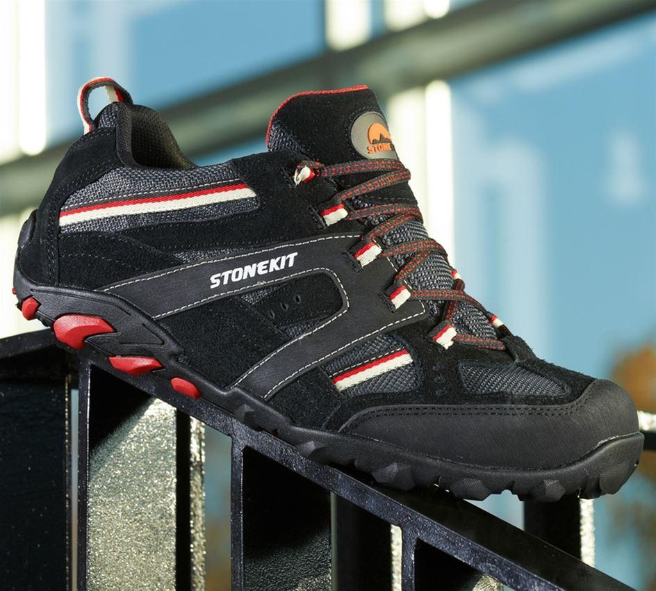 S1: STONEKIT S1 Safety shoes Zürich + black/grey/red
