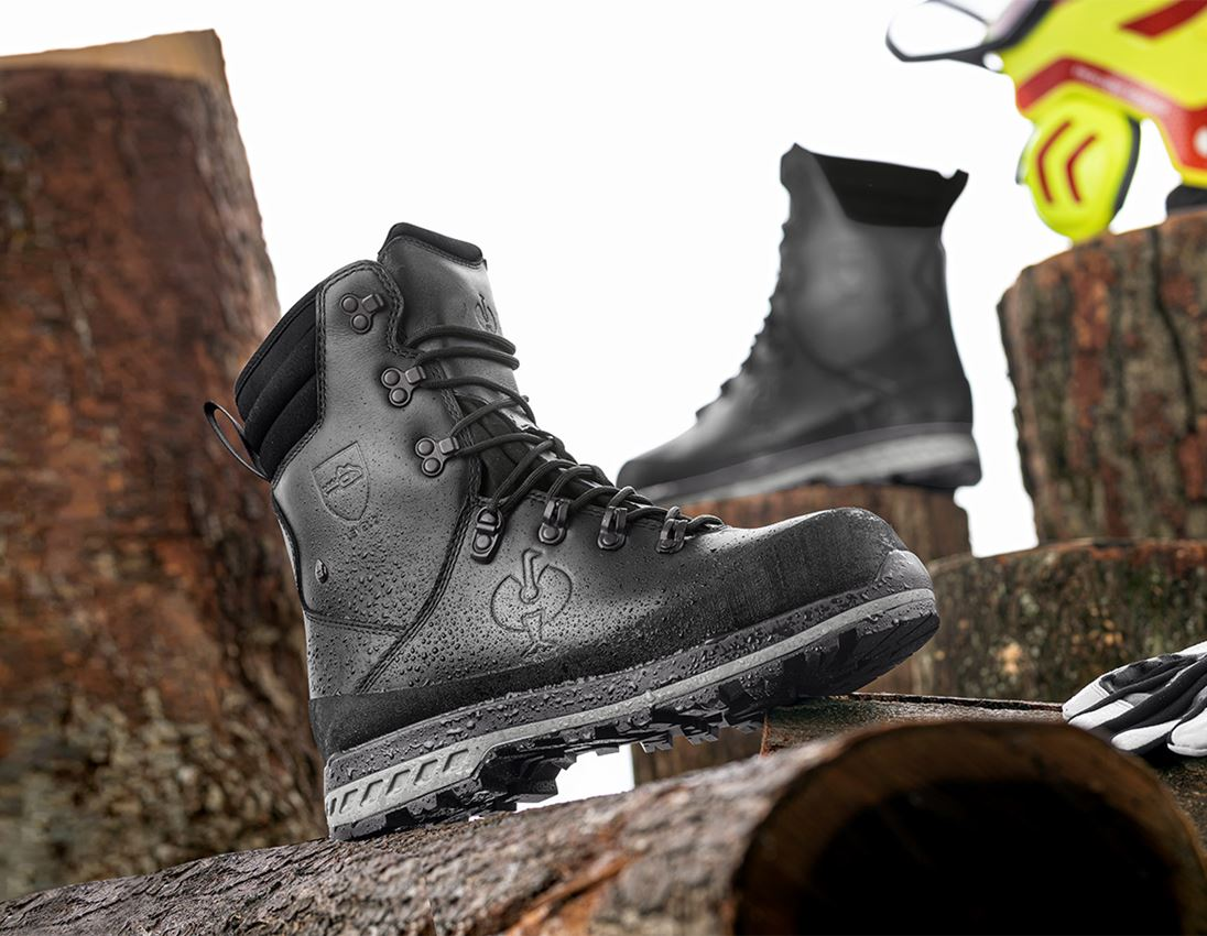S2: e.s. S2 Forestry safety boots Triton + black