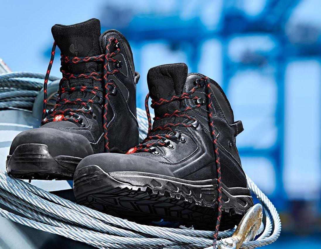 S3: e.s. S3 Chaussures hautes de sécurité Siom-x12 mid + noir