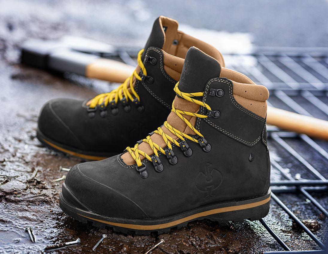 S3: S3 Safety boots e.s. Alrakis II mid + black/walnut/wheat