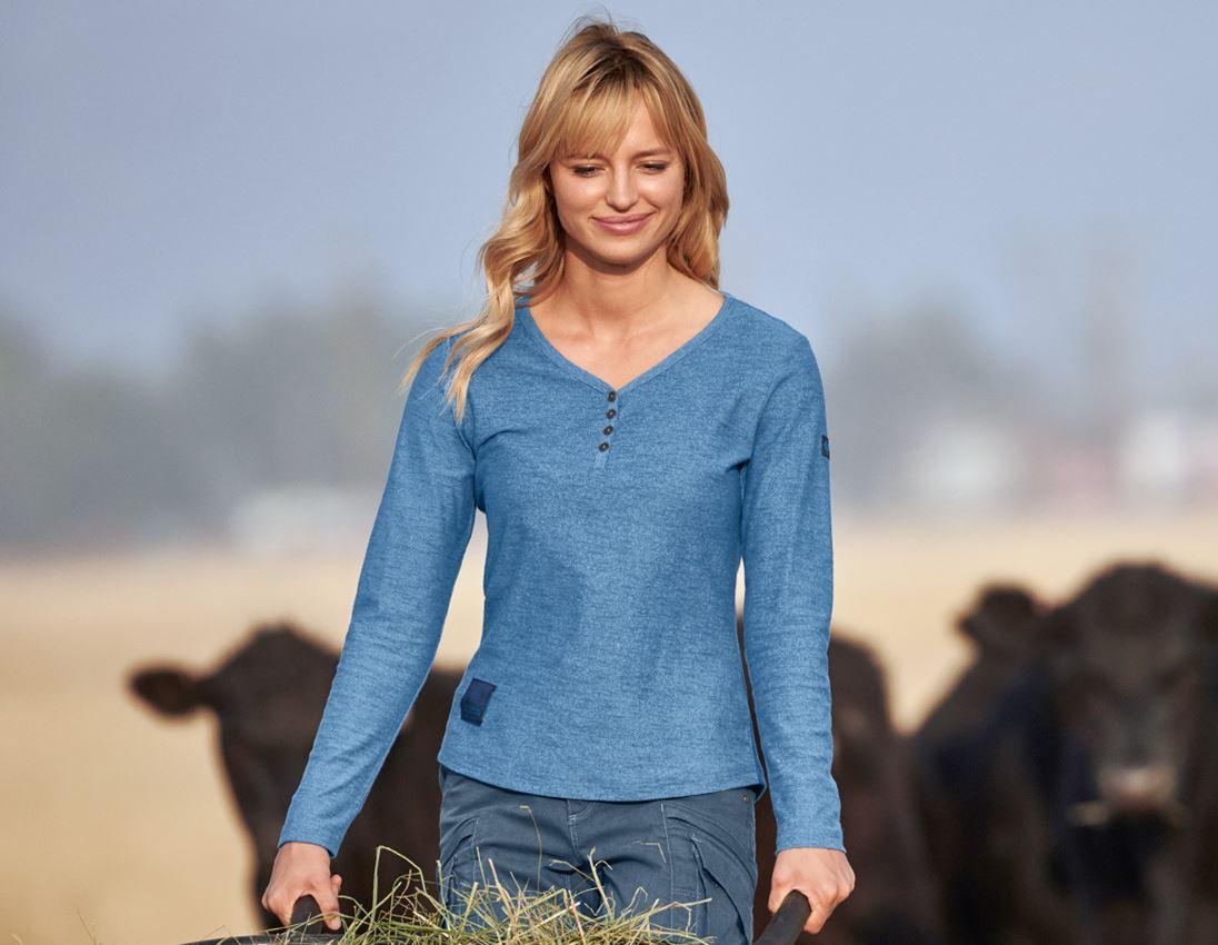 Shirts, Pullover & more: Long sleeve e.s.vintage, ladies' + arcticblue melange