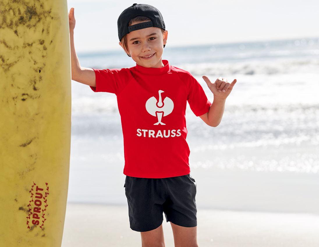 Shirts & Co.: e.s. Aqua-UV-Shirt, Kinder + straussrot