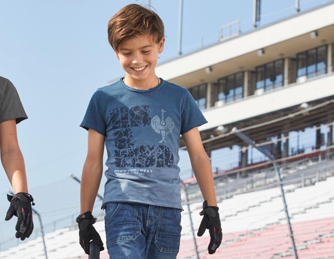 Shirts & Co.: e.s. T-Shirt denim workwear, Kinder + antikblau vintage
