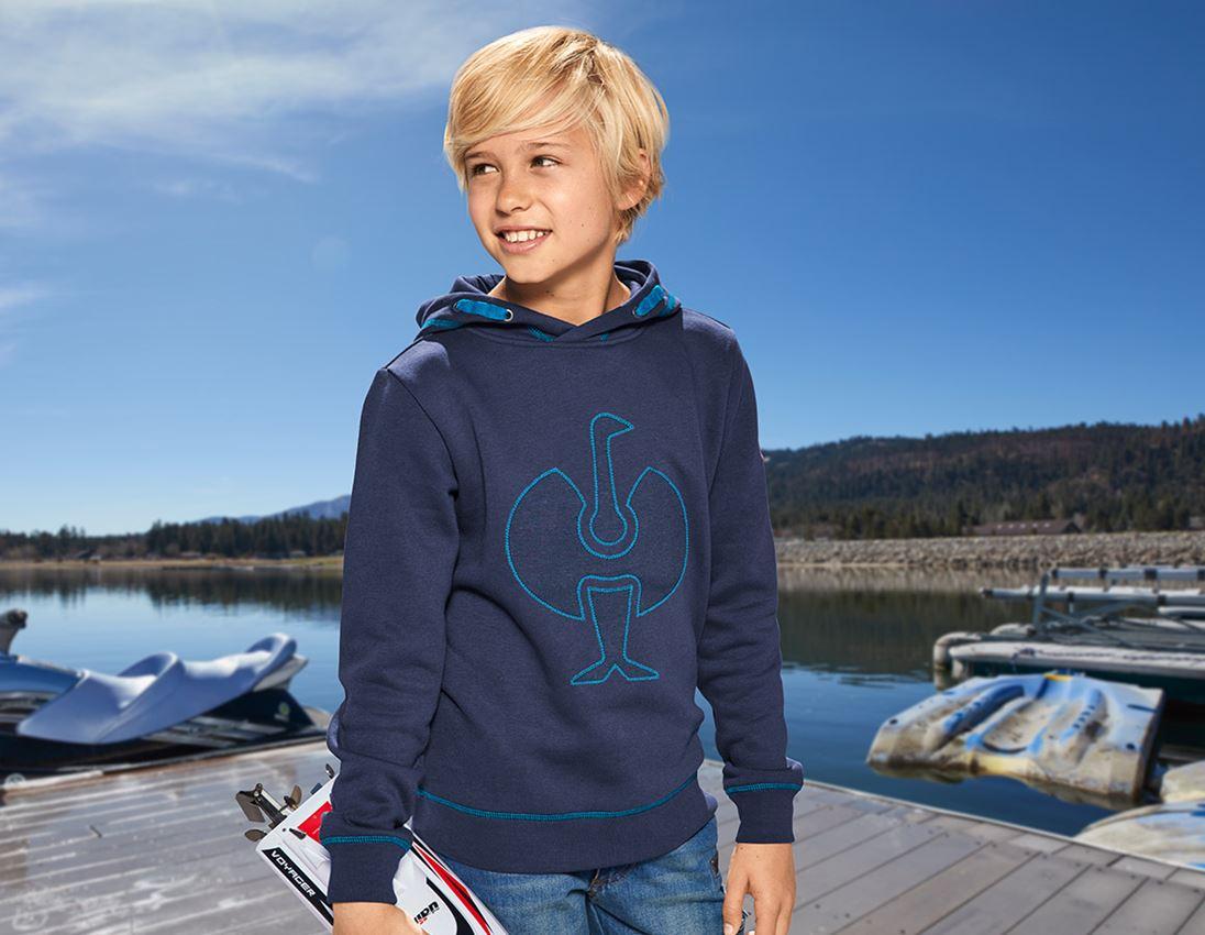 Hauts: Hoody sweatshirt e.s.motion 2020, enfants + bleu foncé/atoll