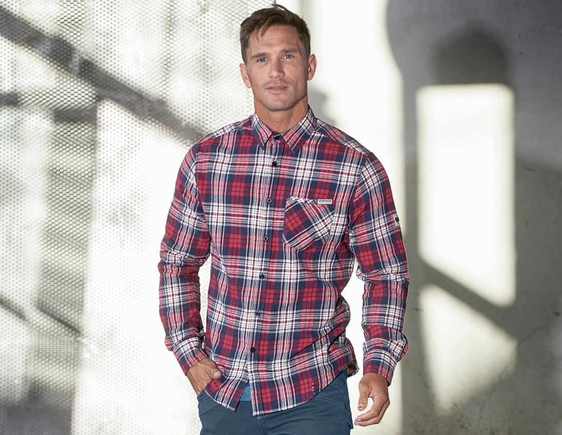 Shirts, Pullover & more: Check shirt e.s.vintage + red checked