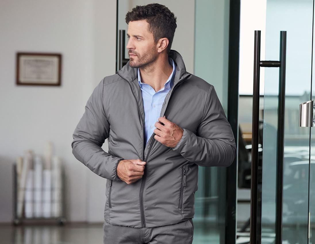 Work Jackets: e.s. Padded jacket CI + anthracite