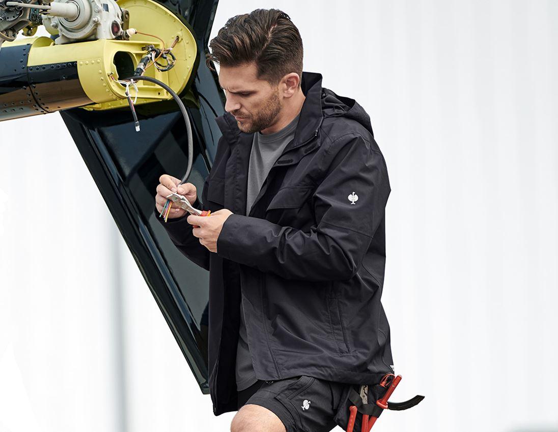 Jacken: Regenjacke e.s.concrete + schwarz