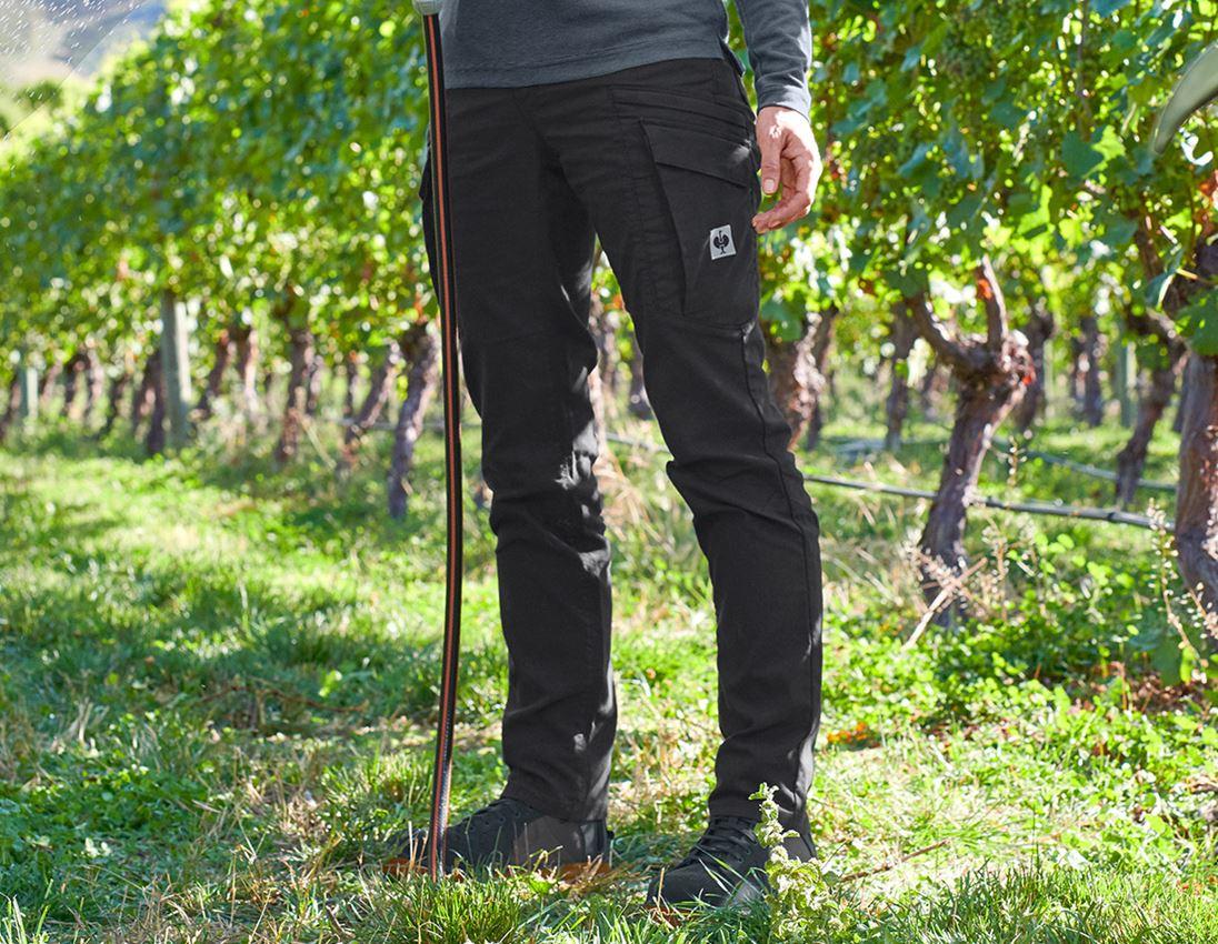 Work Trousers: Cargo trousers e.s.vintage, ladies' + black