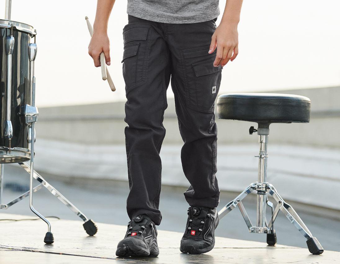 Pantalons: Pantalon Cargo e.s.vintage, enfants + noir