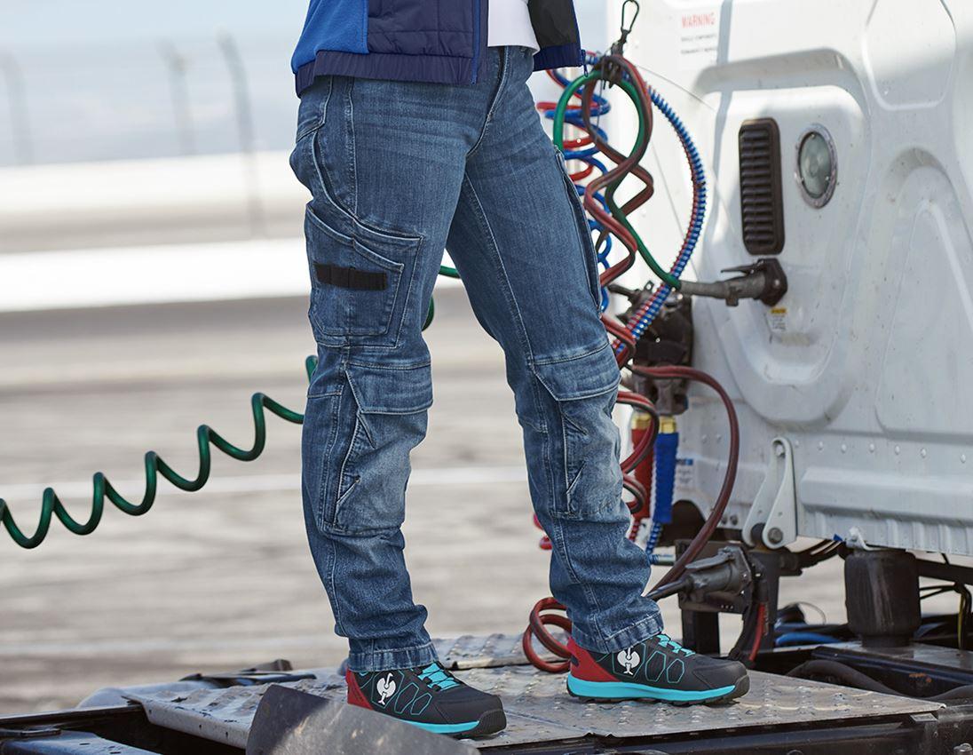 Hosen: Cargo Worker-Jeans e.s.concrete, Damen + stonewashed