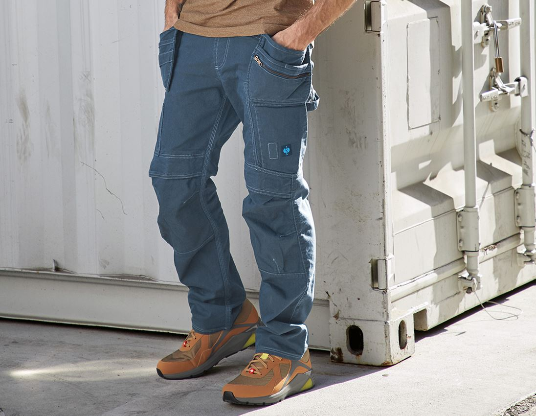 Work Trousers: Holster trousers e.s.vintage + arcticblue