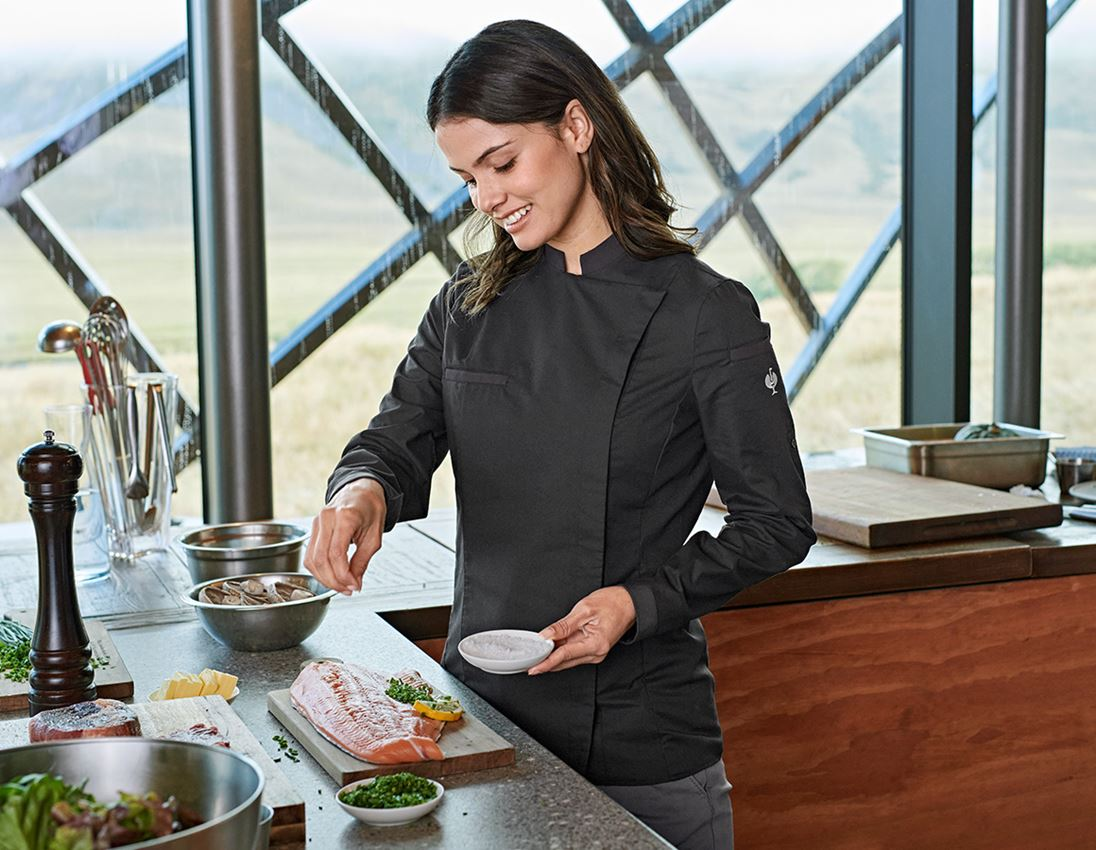 Shirts, Pullover & more: e.s. Chef's shirt, ladies' + black