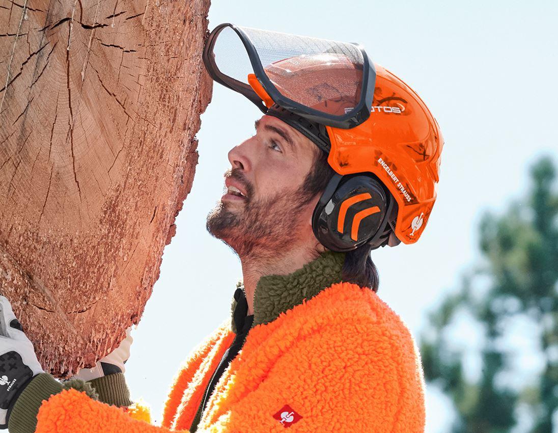 Hard Hats: e.s. Forestry helmet Protos® + high-vis orange woodprint