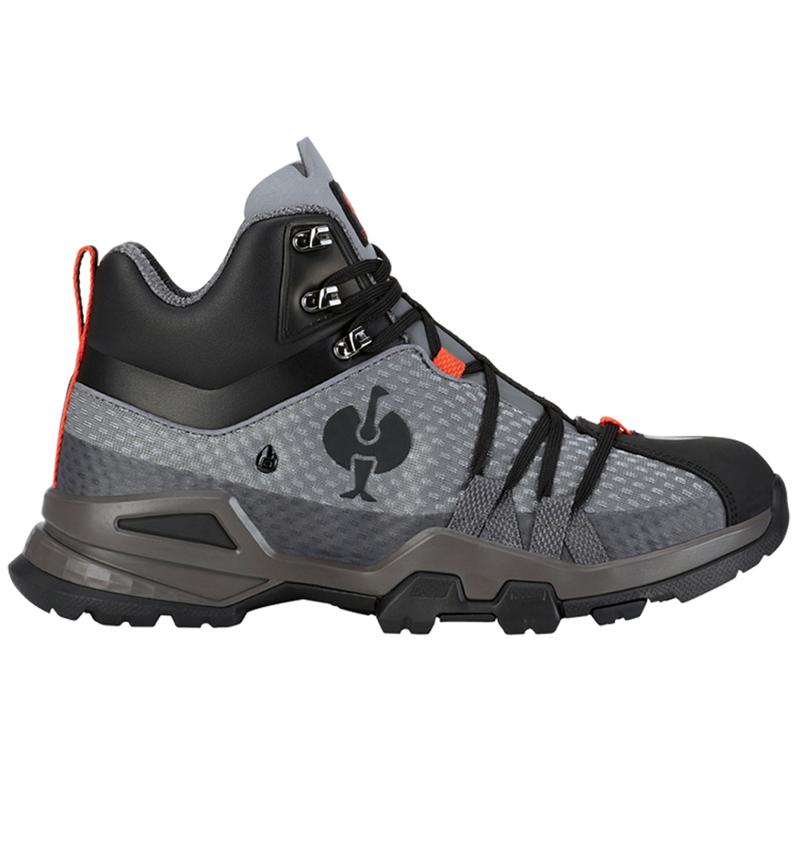 O2: O2 Work shoes e.s. Kobuk mid + anthracite/solarred