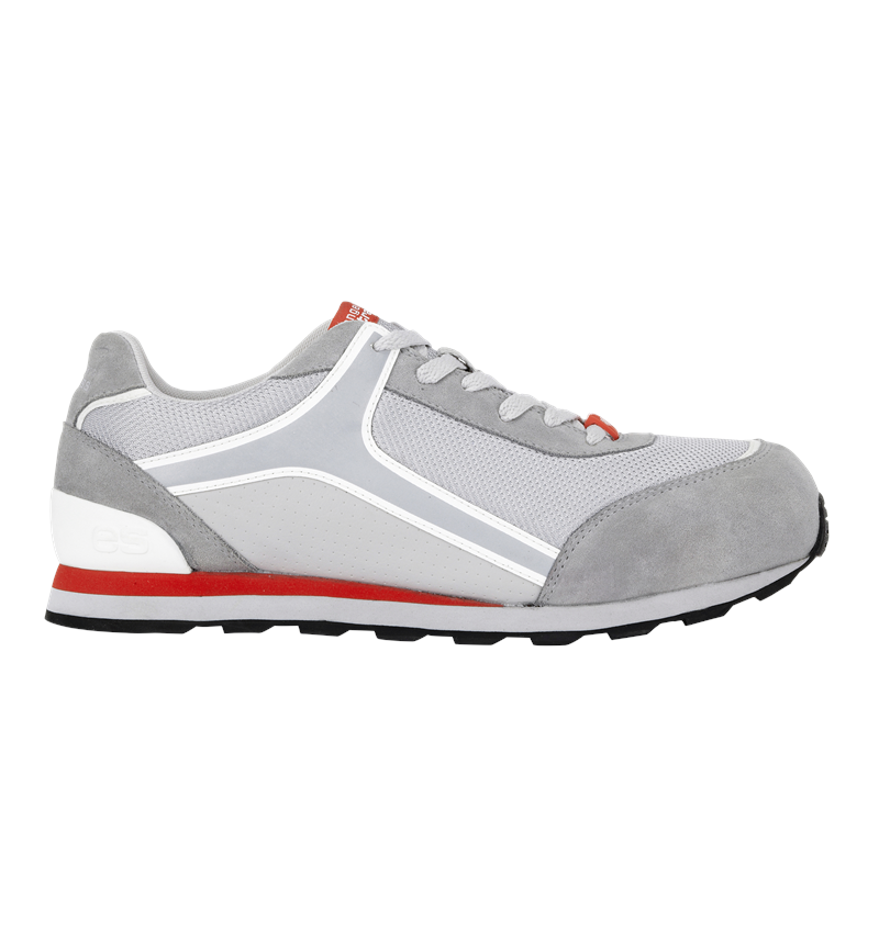 S1: e.s. S1 Safety shoes Sirius + lightgrey/white/red