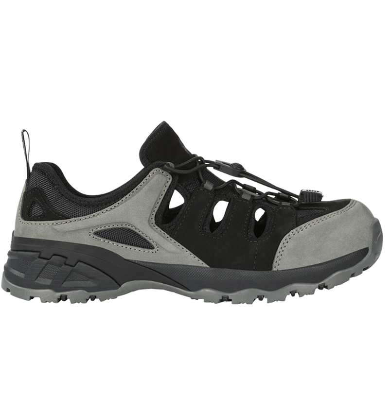 S1: e.s. S1 Safety sandals Pallas + cement/black