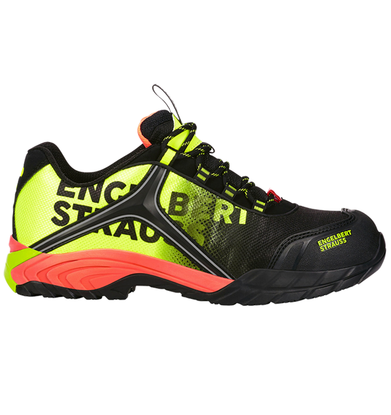 S1: e.s. S1 Safety shoes Merak + black/high-vis yellow/high-vis orange