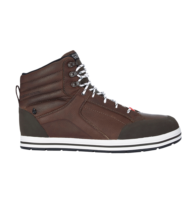 S3: e.s. S3 Safety boots Spes mid + chestnut