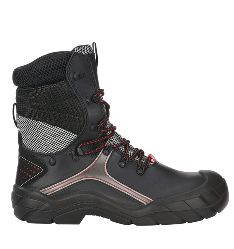 S3: e.s. S3 Safety boots Pollux + black/red