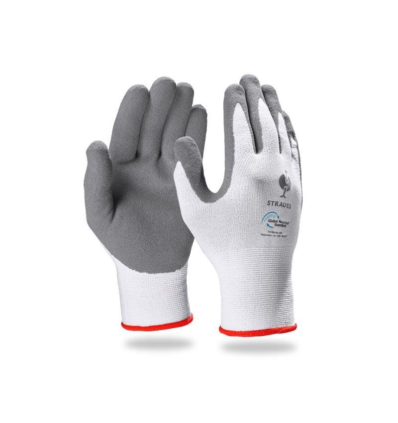 Beschichtet: e.s. Nitrilschaum-Handschuhe recycled, 3 Paar + anthrazit/weiß