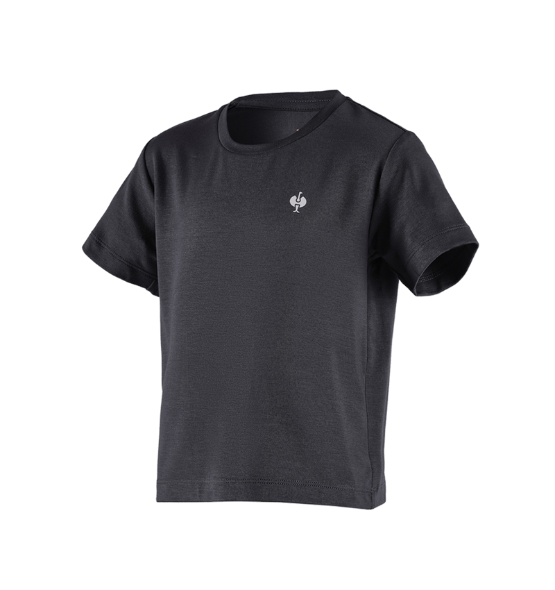 Hauts: Modal-shirt e.s. ventura vintage, enfants + noir