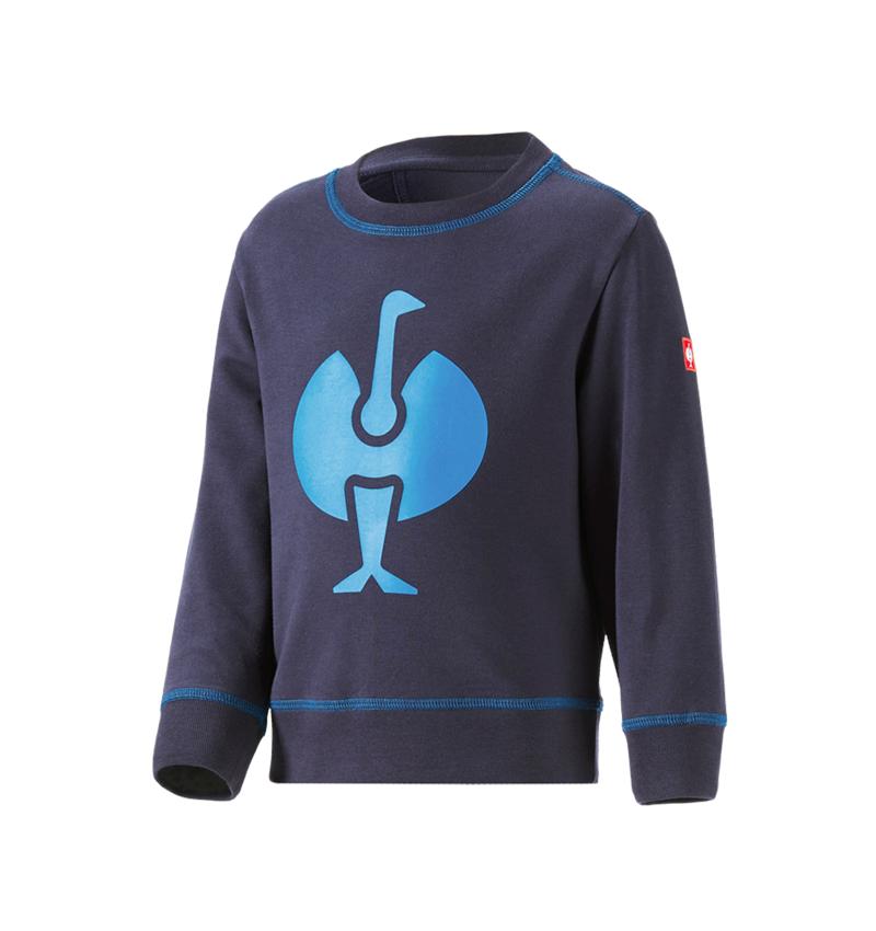 Shirts & Co.: Sweatshirt e.s.motion 2020, Kinder + dunkelblau/atoll