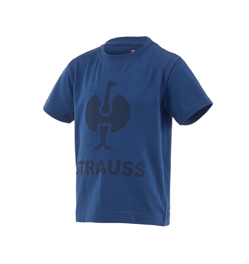 Hauts: T-shirt e.s.concrete, enfants + bleu alcalin