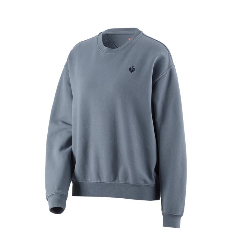 Shirts, Pullover & more: Oversize sweatshirt e.s.motion ten, ladies' + smokeblue vintage