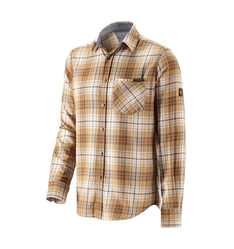Shirts, Pullover & more: Check shirt e.s.vintage + sepia checked