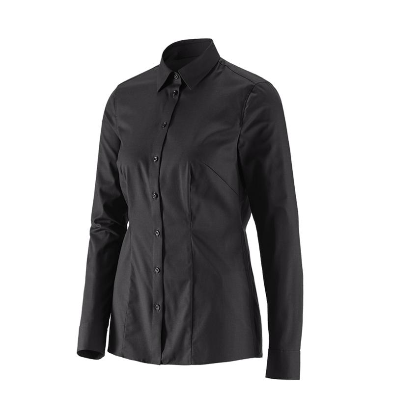 Shirts, Pullover & more: e.s. Business blouse cotton str. lad. regular fit + black