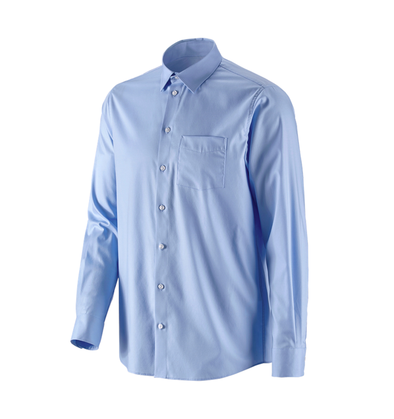Shirts, Pullover & more: e.s. Business shirt cotton stretch, comfort fit + frostblue
