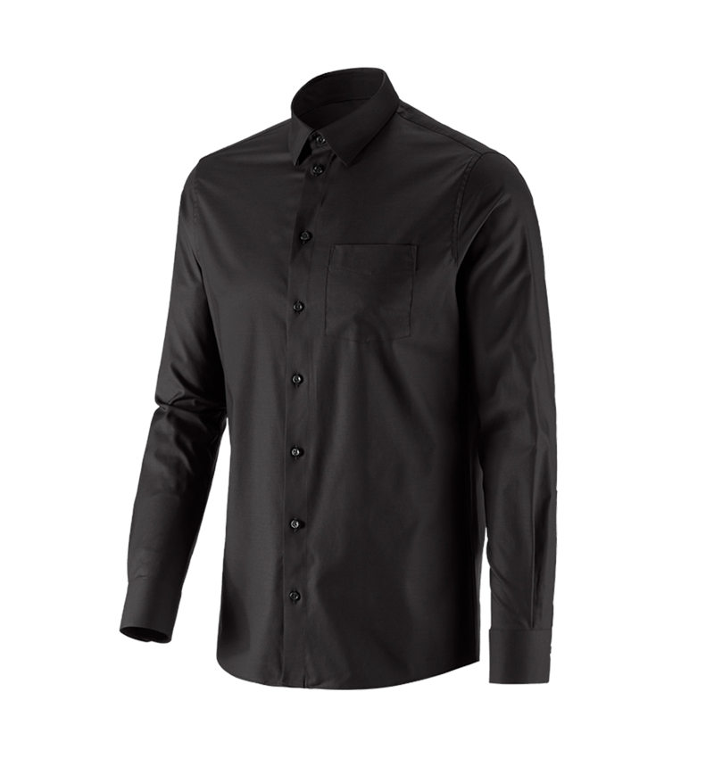 Shirts, Pullover & more: e.s. Business shirt cotton stretch, regular fit + black