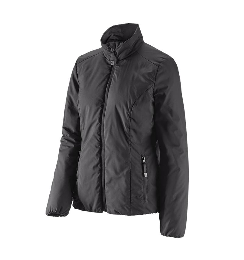 Work Jackets: e.s. Padded jacket CI, ladies' + black