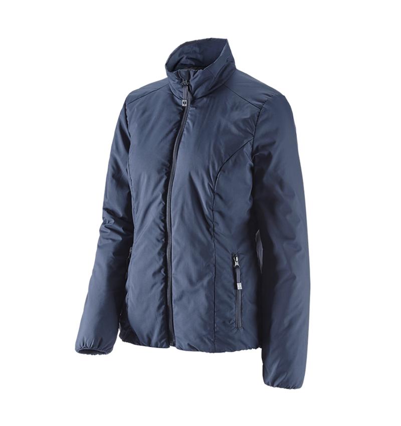 Work Jackets: e.s. Padded jacket CI, ladies' + navy